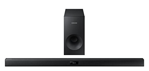 For Great Sound Quality Check Out The Samsung Hw J355 2 1 Channel 120 Watt Bar This Choice Features An Active And Wireless Subwoofer To Enhance